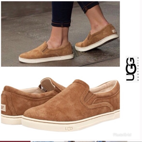 8e06310f79e Ugg Fierce Slip On Sneakers Suede Loafers 7.5
